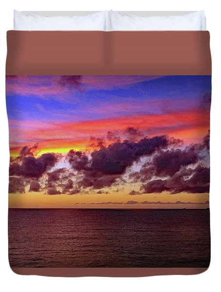 Duvet Cover featuring the photograph Sunset by Tony Murtagh