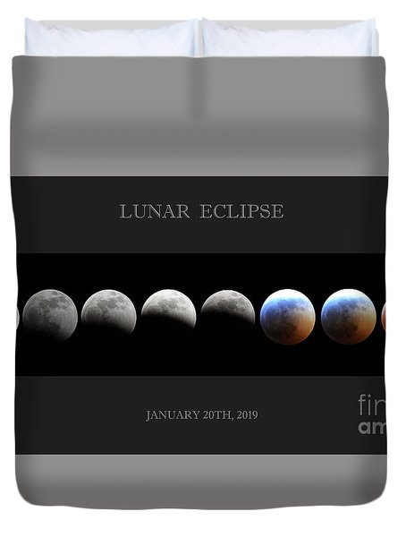 Super Blood Wolf Moon Duvet Cover