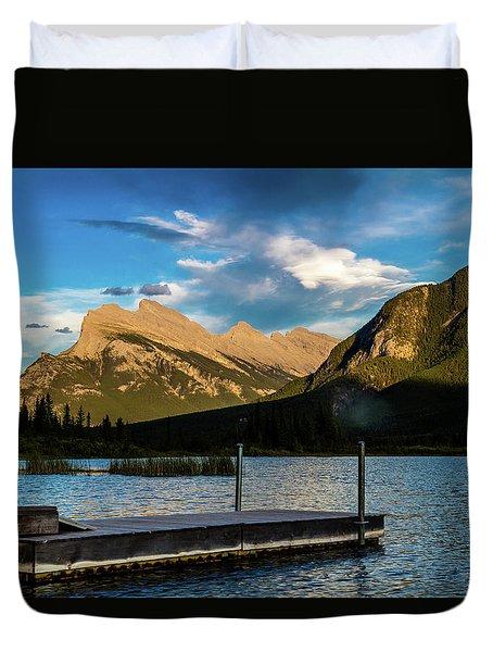 Vermillion Lakes, Banff National Park, Alberta, Canada Duvet Cover