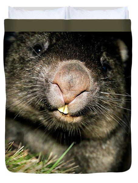 Wombat At Night Duvet Cover