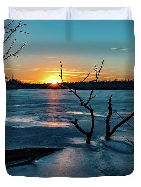 2019-012/365 January Sunset Duvet Cover