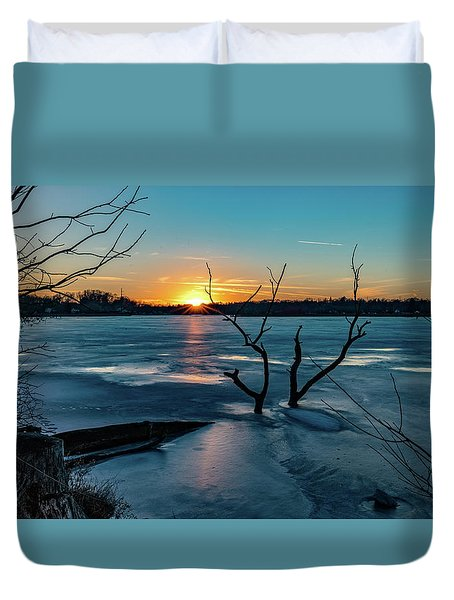 2019-012/365 January Sunset Duvet Cover