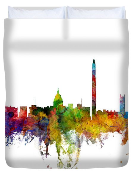 Washington Dc Skyline Duvet Cover