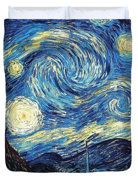 Starry Night By Van Gogh Duvet Cover