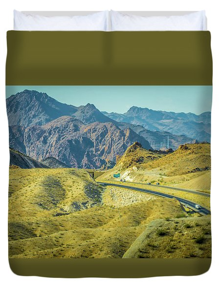 Duvet Cover featuring the photograph Red Rock Canyon Landscape Near Las Vegas Nevada by Alex Grichenko