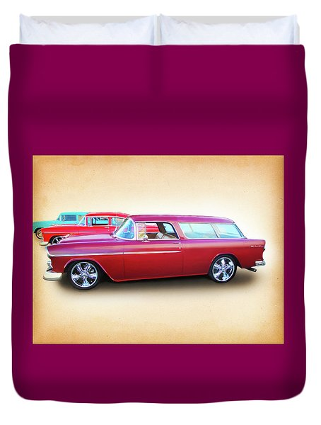 3 - 1955 Chevy's Duvet Cover