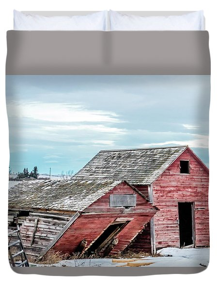 A Sign Of The Times, Run Diown Farm Out Buildings And Barns, Alb Duvet Cover