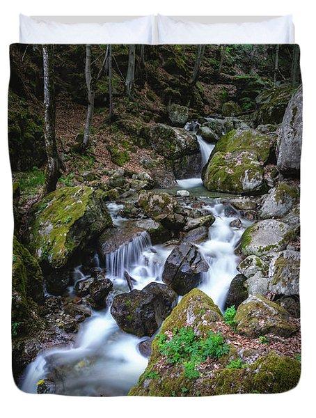 Bela River, Balkan Mountain Duvet Cover