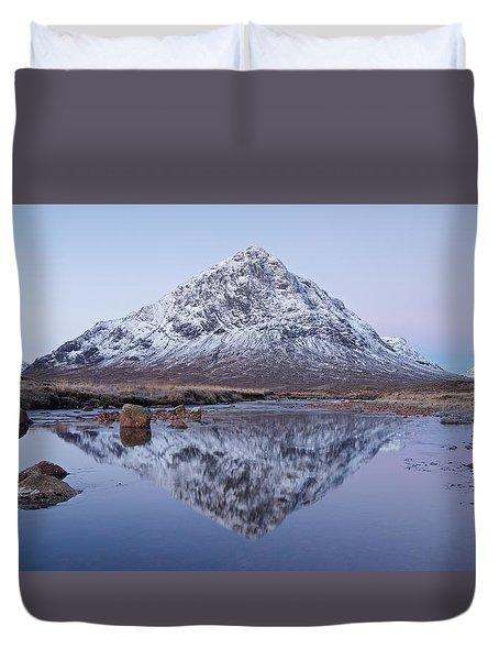 Duvet Cover featuring the photograph Dawn In Glencoe by Stephen Taylor
