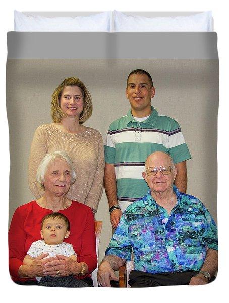 Family Portrait  Duvet Cover