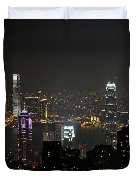 Hong Kong China Duvet Cover