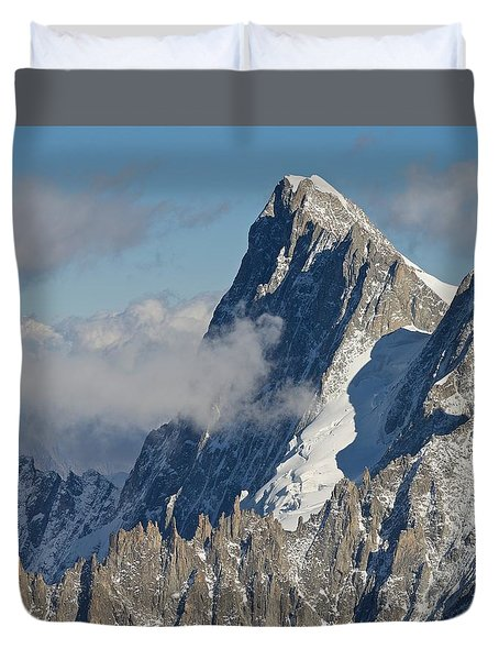 Mont Blanc Du Tacul Duvet Cover