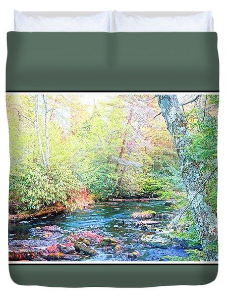 Pocono Mountain Stream, Pennsylvania Duvet Cover