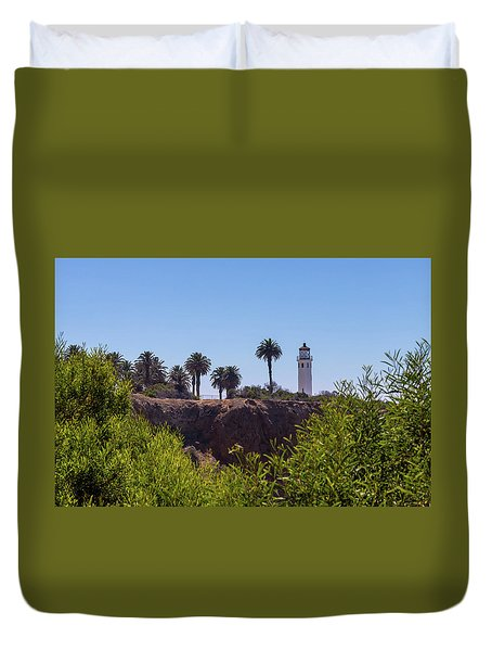 Point Vicente Lighthouse Duvet Cover