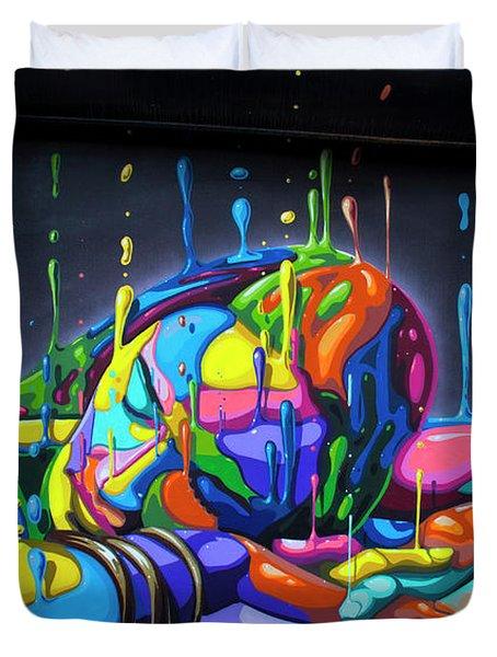 Urban Street Art - Wynwood Walls - Miami Duvet Cover