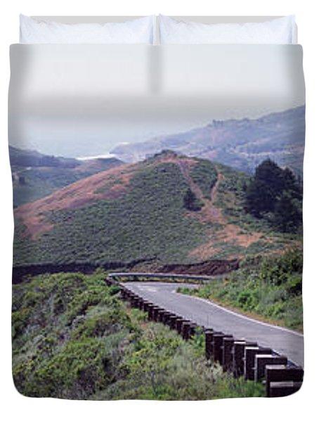 Usa , California, Marin County, Road Duvet Cover