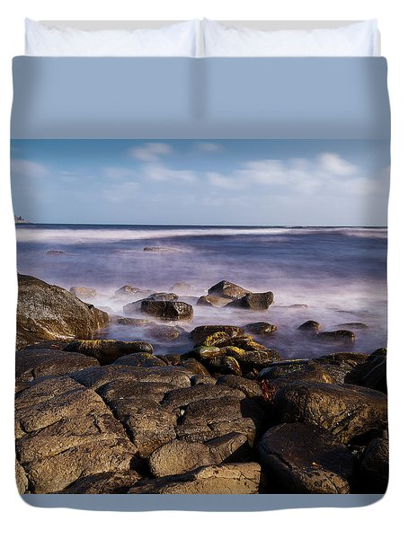 Duvet Cover featuring the photograph View Of Cloudy Bay In Bruny Island, Tasmania, Australia. by Rob D