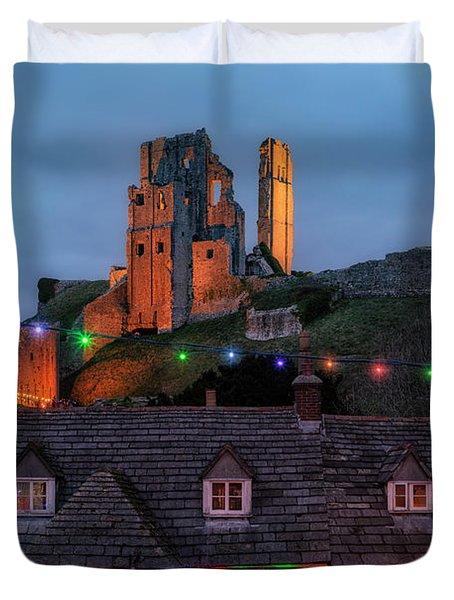 Corfe Castle - England Duvet Cover