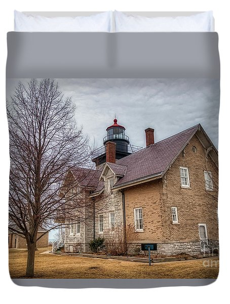 30 Mile Lighthouse  Duvet Cover