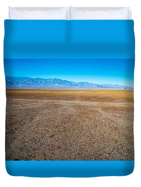 Duvet Cover featuring the photograph Death Valley National Park Scenes In California by Alex Grichenko