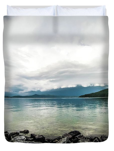 Duvet Cover featuring the photograph Scenery Around Lake Jocasse Gorge by Alex Grichenko