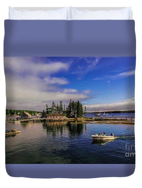 Boothbay Harbor Maine Duvet Cover