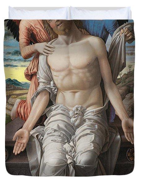 Christ As The Suffering Redeemer Duvet Cover