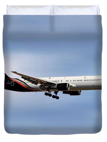 Titan Airways Boeing 767-36n Duvet Cover
