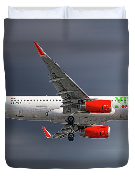 Vivaaerobus Airbus A320-232 Duvet Cover
