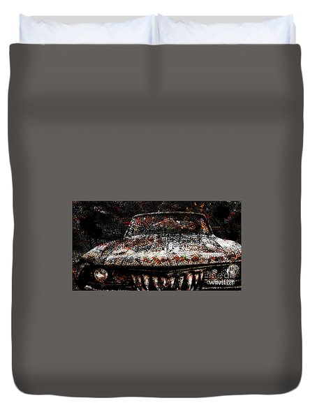 40 Years And Mean Teeth Duvet Cover