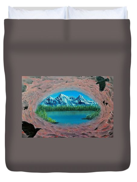 400 Crows Duvet Cover