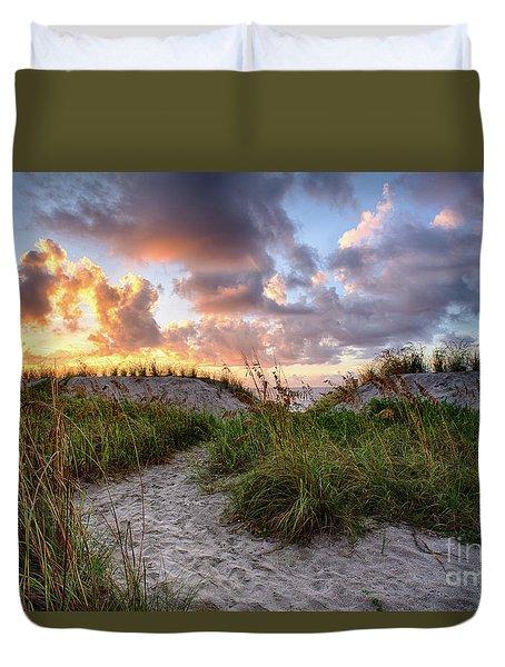 48th Ave. Sunrise North Myrtle Beach Duvet Cover