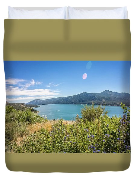 Duvet Cover featuring the photograph Nature Scenics Around Spokane River Washington by Alex Grichenko