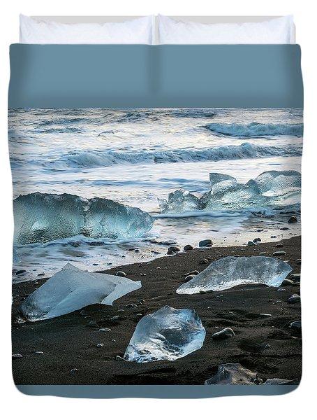 The Diamond Beach, Jokulsarlon, Iceland Duvet Cover
