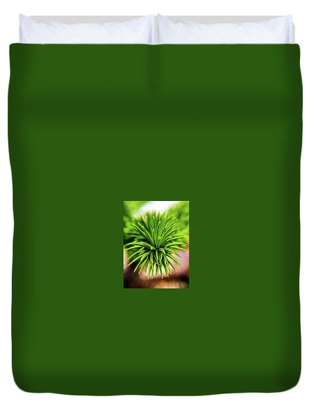 Green Spines Duvet Cover