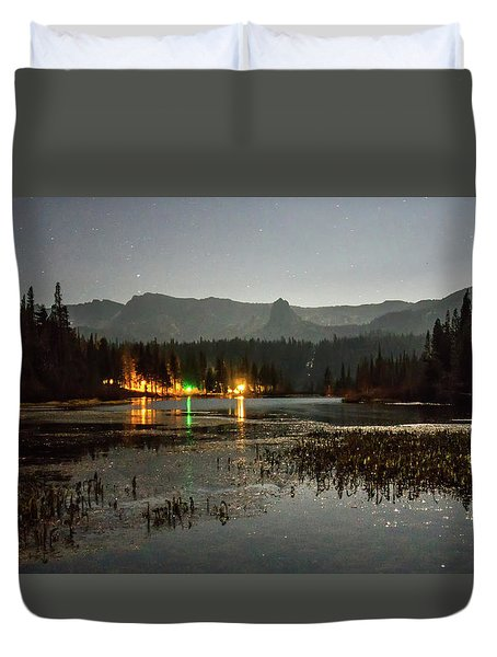 Duvet Cover featuring the photograph Sierra National Park Mountains Near Mammoth Lakes Californit by Alex Grichenko