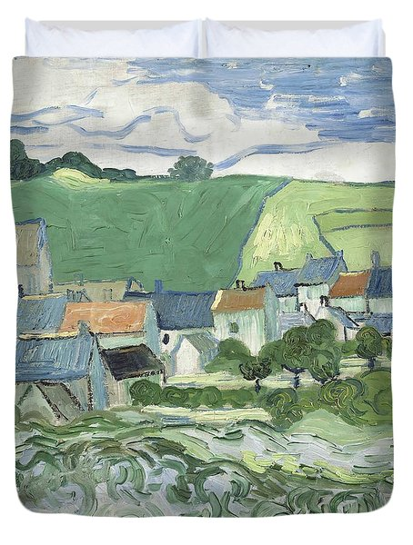 View Of Auvers Duvet Cover