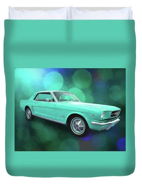 65 Mustang Duvet Cover