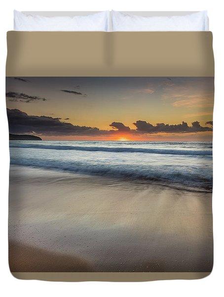 Sunrise Beach Seascape Duvet Cover
