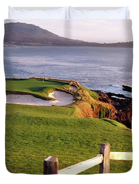 7th Hole At Pebble Beach Golf Links Duvet Cover