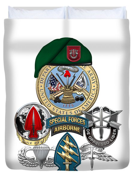 7th Special Forces Group - Green Berets Special Edition Duvet Cover