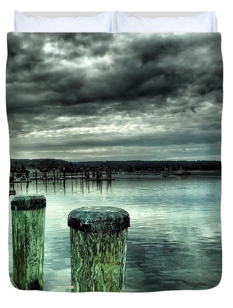 Northport Dock Duvet Cover