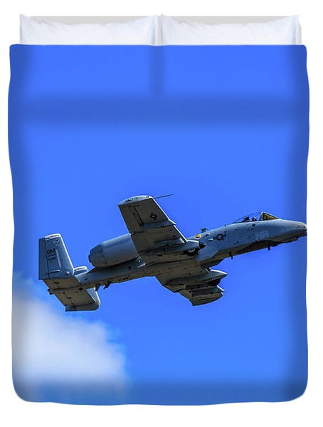 A-10c Thunderbolt II In Flight Duvet Cover