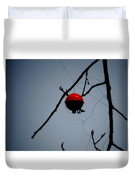 A Bad Day Fishing Duvet Cover