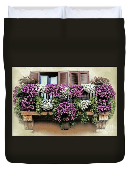 A Balcony In Rome Duvet Cover