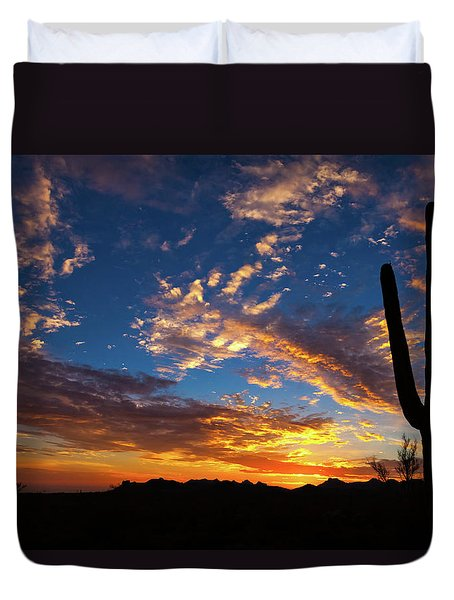 Duvet Cover featuring the photograph A Blanket Of Many Colors by Rick Furmanek