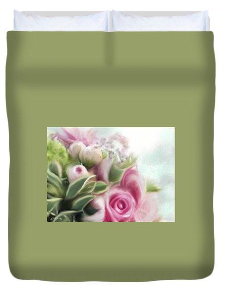 A Bouquet Of Thankfulness Duvet Cover