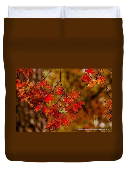 A Branch Of Autumn Duvet Cover