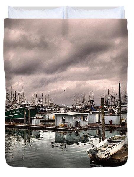 A Calm Harbor Duvet Cover