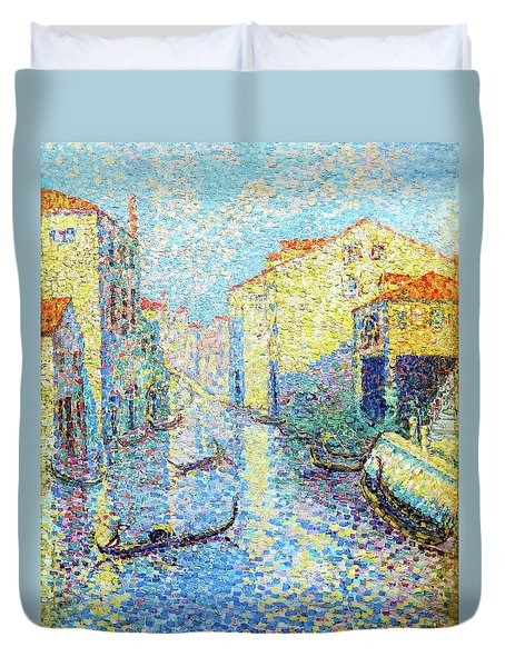 A Canal In Venice - Digital Remastered Edition Duvet Cover
